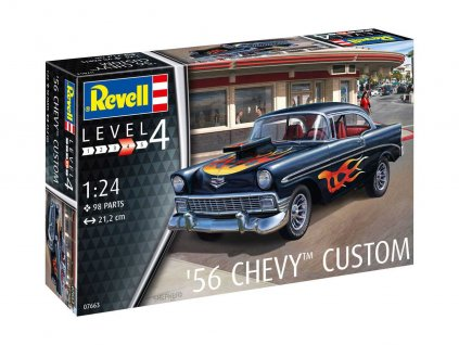 Plastic ModelKit auto 07663 56 Chevy Customs 1 24 a99290624 10374
