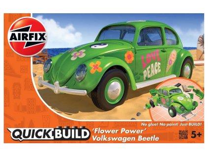 Quick Build auto J6031 QUICKBUILD VW Beetle Flower Power a99095578 10374