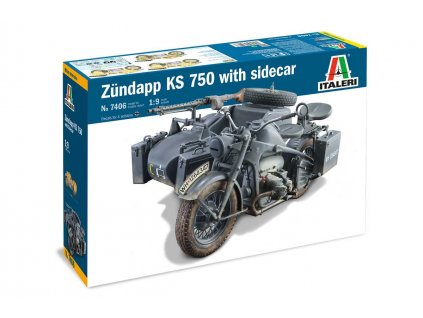 Model Kit military 7406 Zundapp KS 750 with sidecar 1 9 a100677795 10374