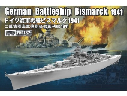 German Battleship Bismarck 1941 1:700