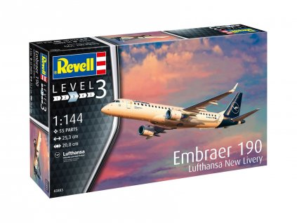 Plastic ModelKit letadlo 03883 Embraer 190 Lufthansa New Livery 1 144 a99289869 10374