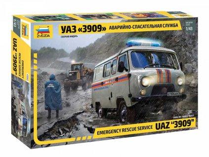 Model Kit auto 43002 Emergency Service UAZ 3909 1 43 a104446551 10374