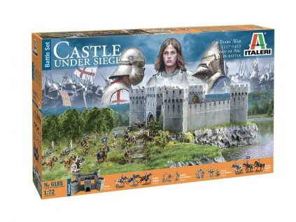 Model Kit diorama 6185 100 YEARS WAR Castle under siege 1 72 a104583761 10374