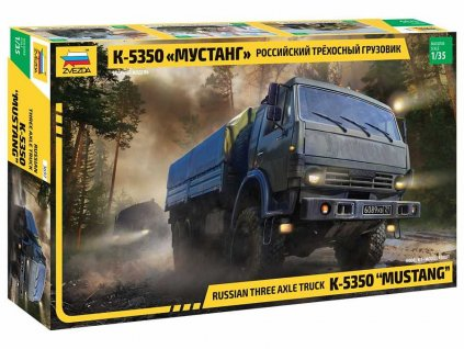 Model Kit military 3697 Russian three axle truck K 5350 MUSTANG 1 35 a98929189 10374