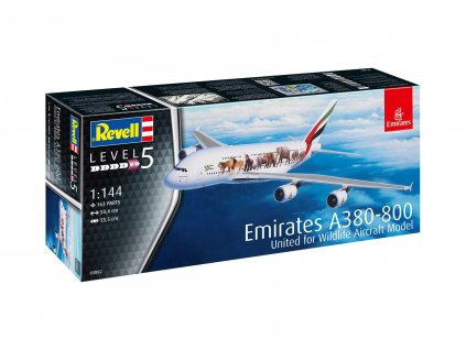 Plastic ModelKit letadlo 03882 Airbus A380 800 Emirates Wild Life 1 144 a99289771 10374