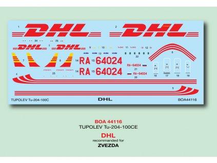 "Tupolev Tu-204-100CE ""DHL"" (Zvezda) 1:144"
