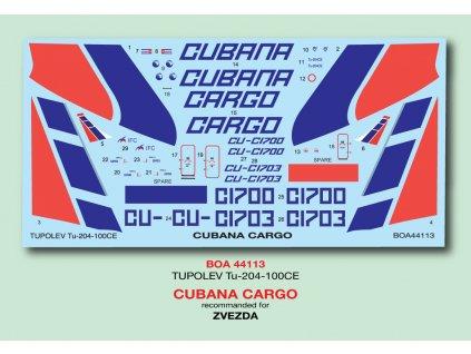 Tupolev Tu-204-100CE Cubana Cargo (Zvezda) 1:144