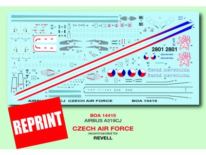 Airbus A319CJ Czech Air Force (Revell) 1:144
