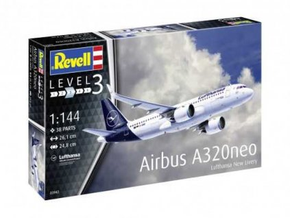 Plastic ModelKit letadlo 03942 Airbus A320 Neo Lufthansa New Livery 1 144 a75504740 10374
