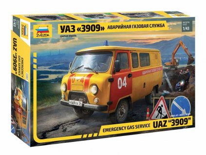 Model Kit auto 43003 Emergency gas service UAZ 3909 1 43 a107218726 10374