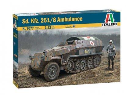 Model Kit military 7077 Sd Kfz 251 8 Ambulance 1 72 a107041857 10374