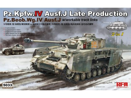 Panzer IV Ausf. J late / Pz.Beob.Wg IV Ausf.J 2in1 1:35