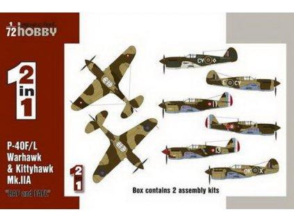 """P-40F/L & Kittyhawk Mk.IIA """"RAF&FAFL"""" 1:72"""