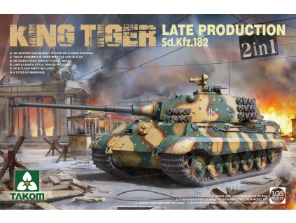 Sd.Kfz.182 King Tiger Late Production 2 in 1 1:35