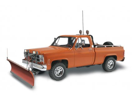 Plastic ModelKit MONOGRAM auto 7222 GMC Pickup w Snow Plow 1 24 a99952054 10374