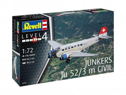 Plastic ModelKit letadlo 04975 Junkers Ju52 3m Civil 1 72 a109309659 10374