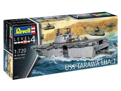 Assault Ship USS Tarawa LHA-1 1:720