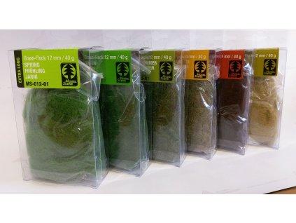 Statická tráva 12 mm - zelená 40 g
