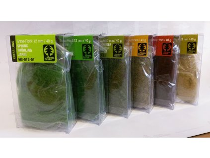 Statická tráva 12 mm - hnedá 40 g