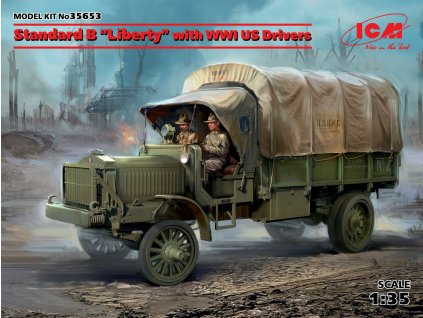 Standard B Liberty with WWI US Drivers 1:35