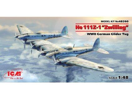 He 111Z-1 Zwilling, WWII German Glider Tug 1:48