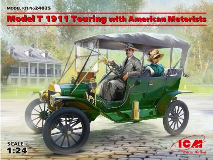 Model T 1911 Touring with American Motorists 1:24