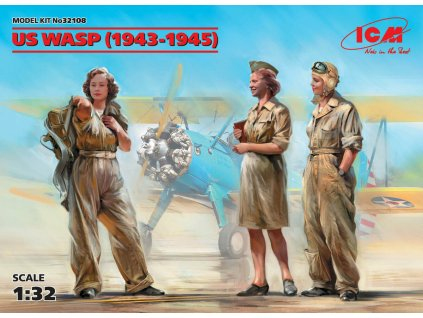 US WASP (1943-1945) (3 figures) 1:32
