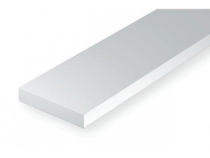 Plastový hranol 0.25 x 1.0 mm, dĺžka 350 mm, balenie 10 ks