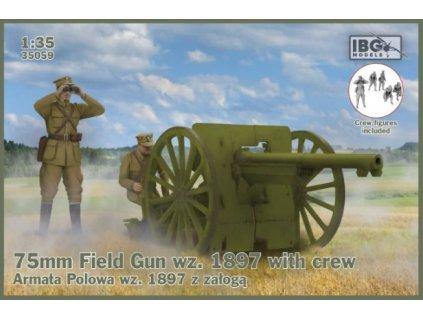 75mm Field Gun wz.1897 with Polish Artillerymen 1:35