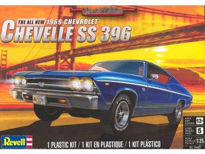 Plastic ModelKit MONOGRAM auto 4492 69 Chevelle SS 396 1 25 a113214509 10374