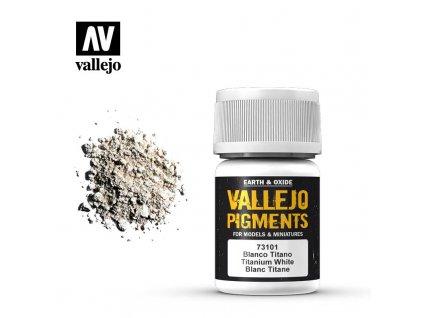 VALLEJO 73 101 Pigments Titanium White Blanc Titane 35ml