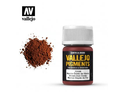 VALLEJO 73 108 Pigments Brown Iron Oxide Oxyde de fer brun