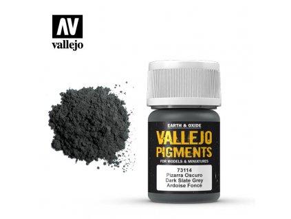 VALLEJO 73 114 Pigments Dark Slate Grey Gris ardoise fonc