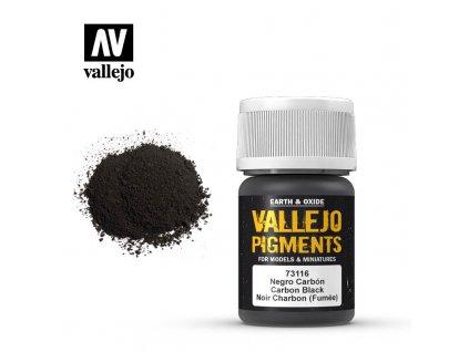 VALLEJO 73 116 Pigments Carbon Black Smoke Black Noir Carbone Fum e