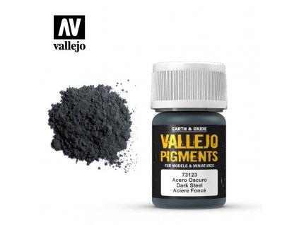 VALLEJO 73 123 Pigments Dark Steel Acier fonc