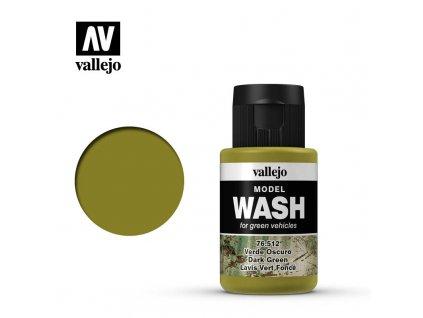 vallejo model wash dark green 76512