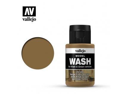 vallejo model wash dark khaki green 76520