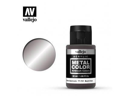 metal color vallejo burnt iron 77721