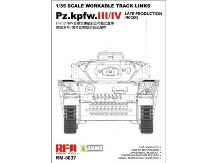 pzkpfwiii iv late production 40cm tracks 5037 rye field model 135