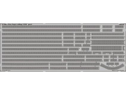 Zábradlie pre Prinz Eugen (Trumpeter) 1:350