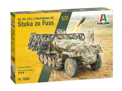 Model Kit tank 7080 Sd Kfz 251 1 Wurfrahmen Stuka zu Fuss 1 72 a110159707 10374