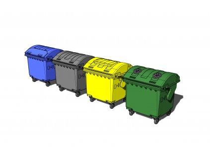 Trash containers/odpadkové kontajnery 1:72