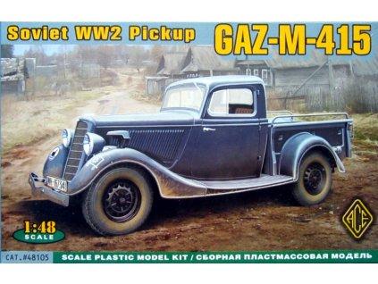 WWII Soviet pick-up GAZ-M-415 1:48