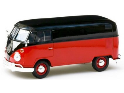 Volkswagen T1 Delivery Van (red/black) 1:24