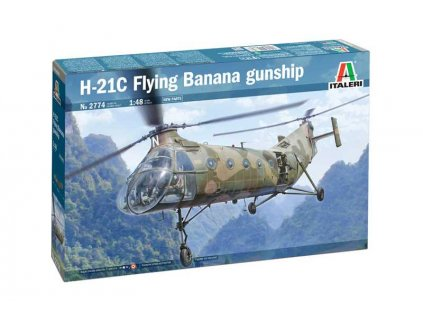 Model Kit vrtulnik 2774 H 21C Flying Banana GunShip 1 48 a76010106 10374