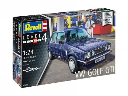 Plastic ModelKit auto 07673 VW Golf Gti Builders Choice 1 24 a109310081 10374