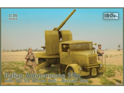 Italian Autocannone 3Ro with 90/53 AAGun 1:35
