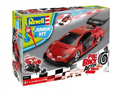 Junior Kit auto 00835 Pull Back Racing Car cervene 1 20 a109311803 10374