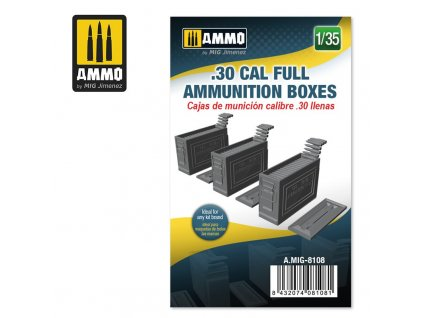 135 30 cal full ammunition boxes