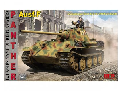 Sd.Kfz.171 Panther Ausf. F w/ workable track links 1:35